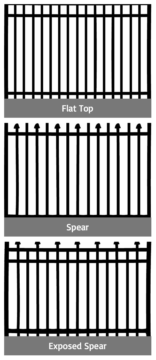 3-rail aluminum fences