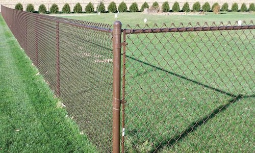 Brown Chain Link Fence Installation