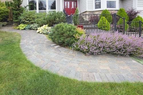 Outdoor Pavers Sidewalk Design