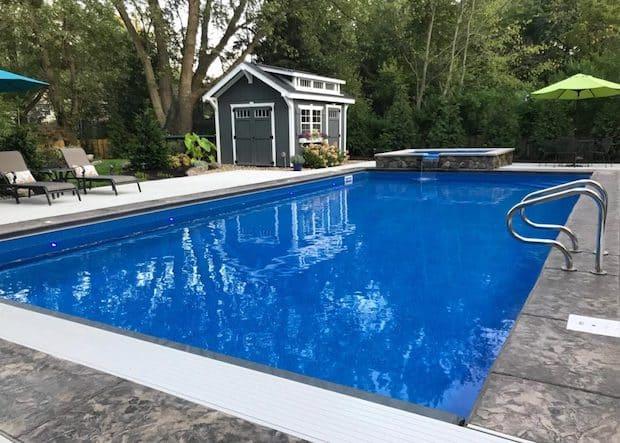 Rectangle In-Ground Pool Installation Chesapeake VA