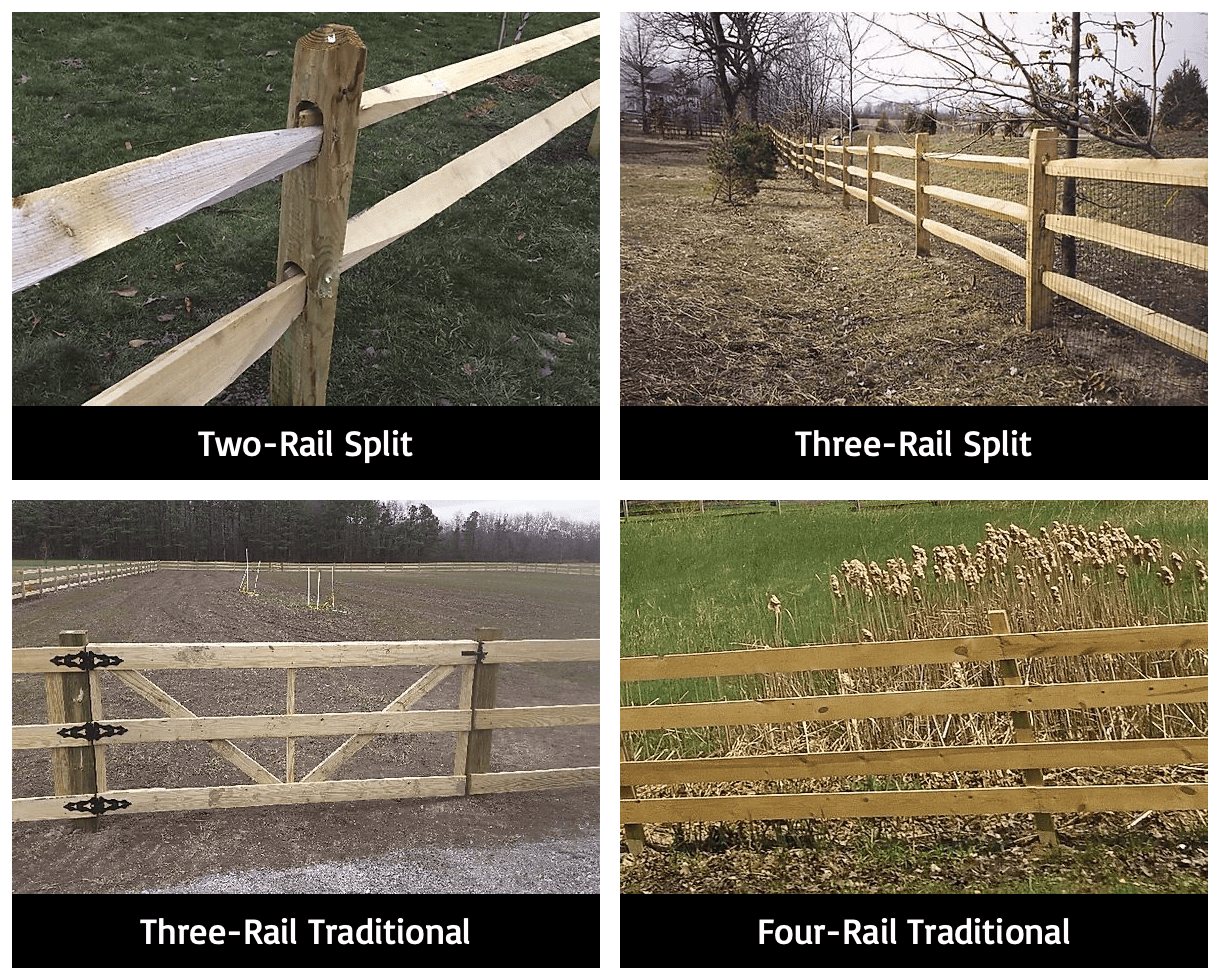 Wood Rail Fences